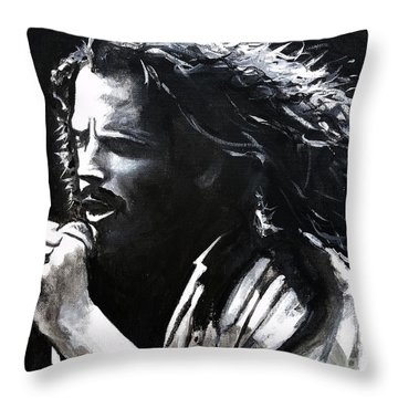 Chris Cornell Throw Pillow