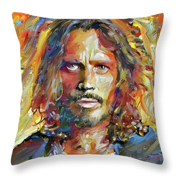 Chris Cornell Tribute 2017 Portrait Throw Pillow