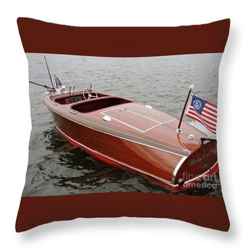 Chris Craft Barrel Back Throw Pillow