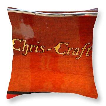 Chris Craft Logo Throw Pillow by Michelle Calkins