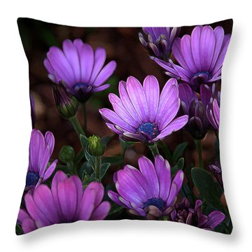 Throw Pillow featuring the digital art Morning Stretch by Stuart Turnbull