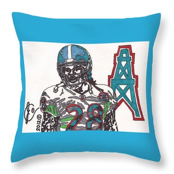 Chris Johnson  Throw Pillow