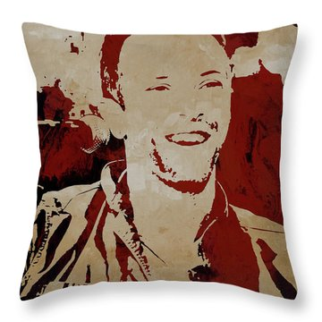 Chris Martin Coldplay Throw Pillow