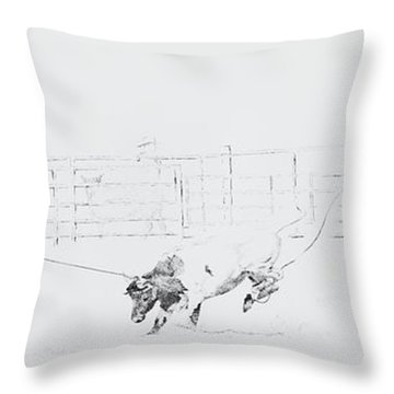 Chris Moore Suggie Horses Only Throw Pillow by Tracy L Teeter
