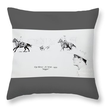 Chris Moore Suggie Throw Pillow by Tracy L Teeter