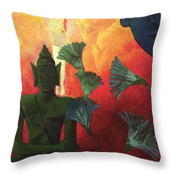 Christ And Buddha Throw Pillow by Paul Ranson