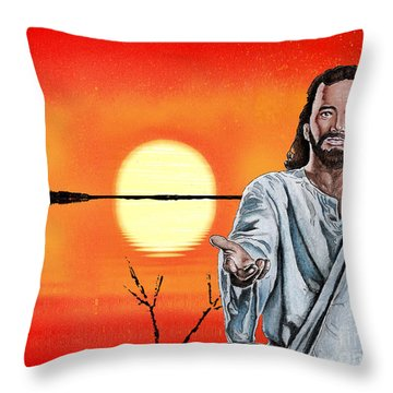 Christ At Sunrise Throw Pillow by Bill Richards
