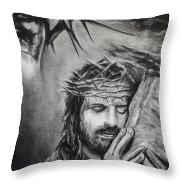 Christ Throw Pillow by Carla Carson