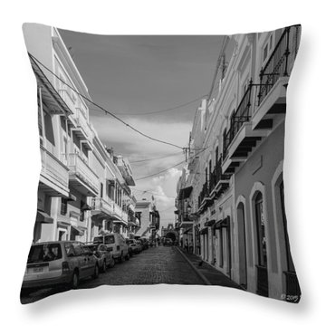 Christ Chapel Street Throw Pillow