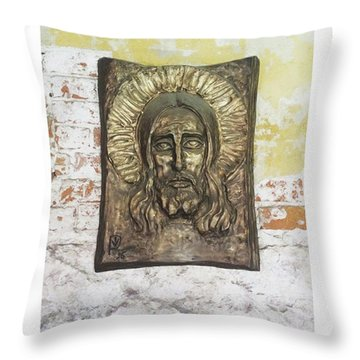 #christ #christians #religion #face Throw Pillow