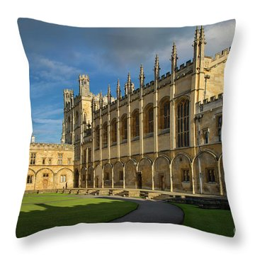 Throw Pillow featuring the photograph Christ Church College II by Brian Jannsen