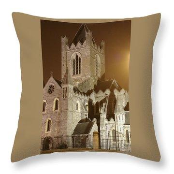Christ Church Dublin Ireland Throw Pillow by Henri Irizarri