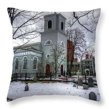 Christ Church In Cambridge Throw Pillow