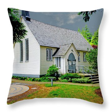 Throw Pillow featuring the photograph Christ Church by Rod Wiens