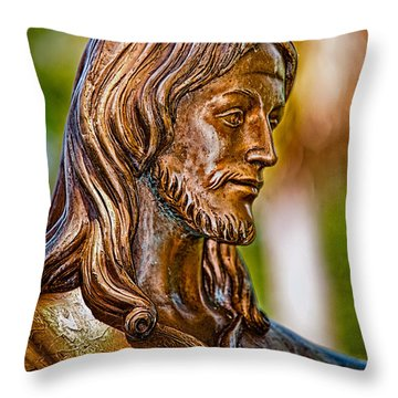 Christ In Bronze Throw Pillow