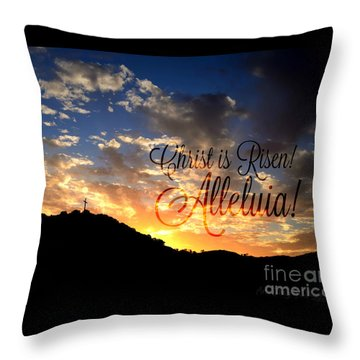 Christ Is Risen Throw Pillow