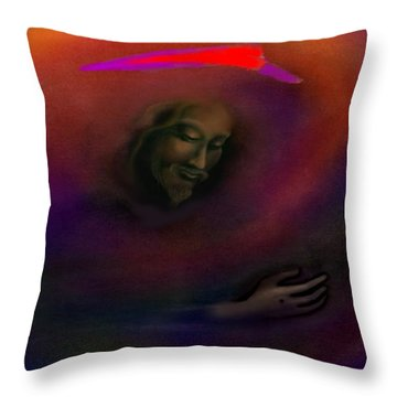 Christ Throw Pillow by Kevin Middleton