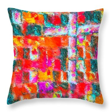 Christ Liveth In Me Throw Pillow