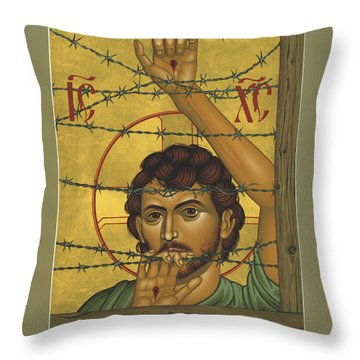Christ Of Maryknoll - Rlcom Throw Pillow