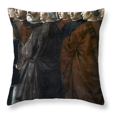 Christ, Peter And Andrew Throw Pillow by Granger