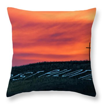 Christ Pilot Me Hill Throw Pillow