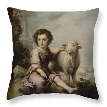 Christ The Good Shepherd Throw Pillow