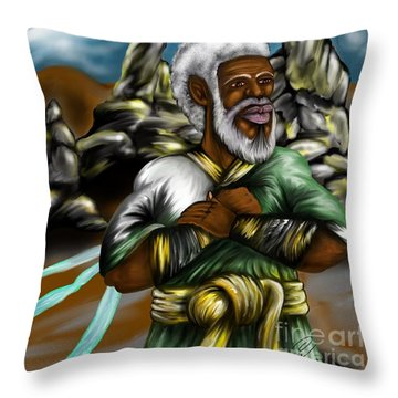 Christ The Messiah Our King Throw Pillow