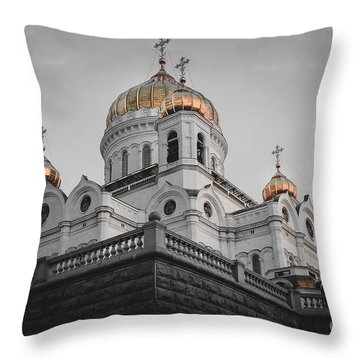 Christ The Savior Cathedral Throw Pillow