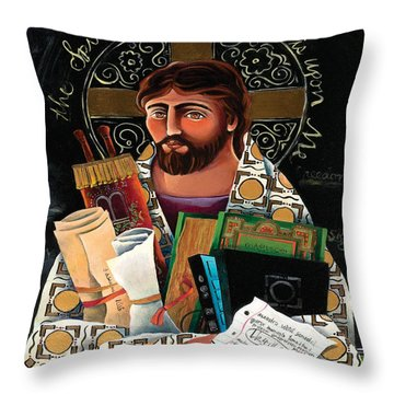 Christ The Teacher - Mmctt Throw Pillow