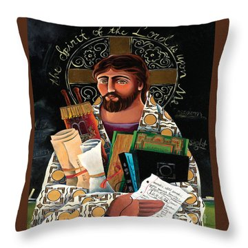 Christ The Teacher - Mmctt Throw Pillow