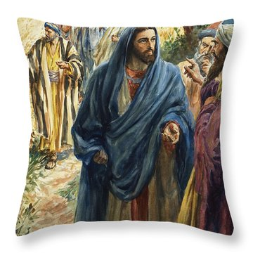 Christ With His Disciples Throw Pillow