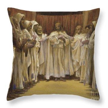 Christ With The Twelve Apostles Throw Pillow
