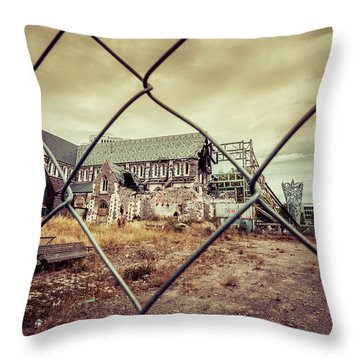 Throw Pillow featuring the photograph Christchurch Cathedral by Chris Cousins