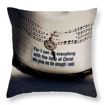 Christian Cowboy Throw Pillow
