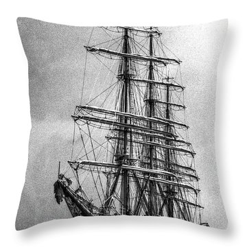 Christian Radich Throw Pillow