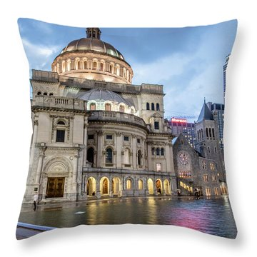 Christian Science Center In Boston Throw Pillow by Peter Ciro