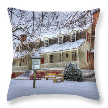 Christina Campbell Tavern Colonial Williamsburg Throw Pillow