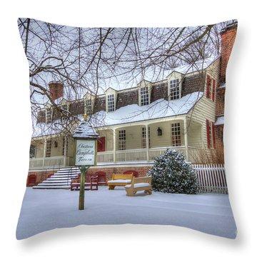 Christina Campbell Tavern Colonial Williamsburg Throw Pillow