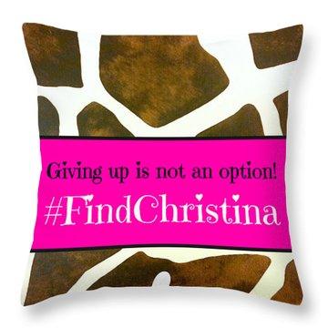 Christina Morris 001 Throw Pillow