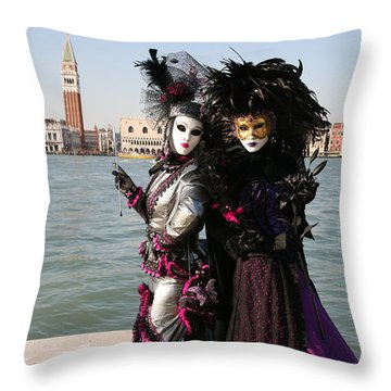 Christine And Gunilla Across St. Mark's  Throw Pillow