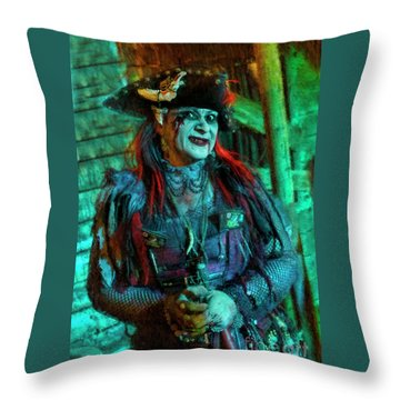 Christine Campiotti And Hunted House Throw Pillow