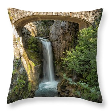 Throw Pillow featuring the photograph Christine Falls by Belinda Greb