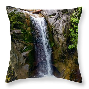 Christine Falls Mt Rainier Throw Pillow