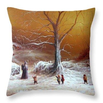 A Shire Christmas  Throw Pillow