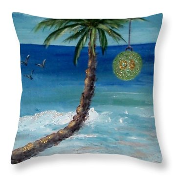 Throw Pillow featuring the painting Christmas 2008 by Jamie Frier