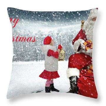Christmas 2017 Throw Pillow