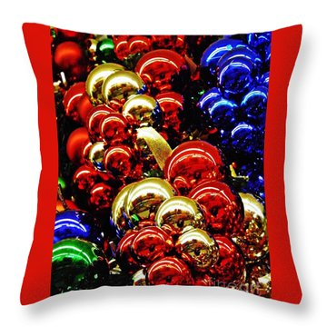 Christmas Abstract 14 Throw Pillow by Sarah Loft