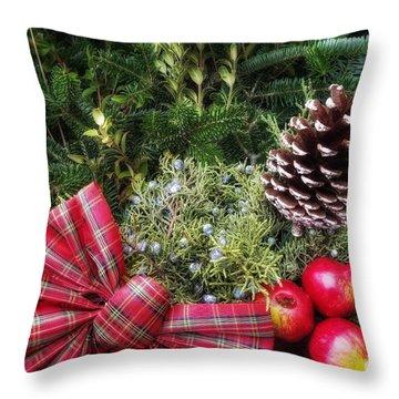 Christmas Arrangement Throw Pillow