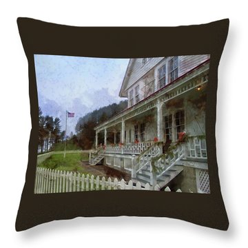 Throw Pillow featuring the photograph Christmas At Heceta Head by Thom Zehrfeld