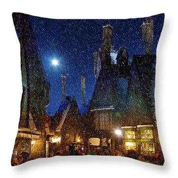 Christmas At Hogsmeade Blank Throw Pillow